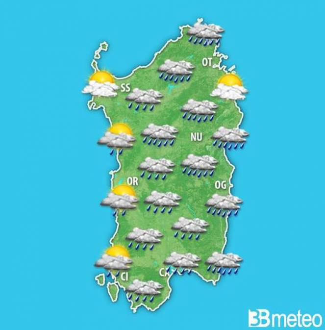 A tratti perturbato in Sardegna nel weekend