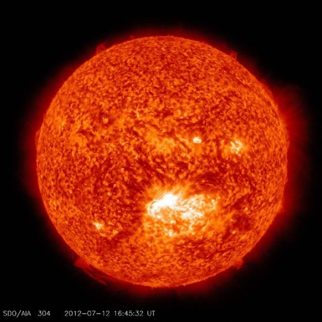 Le macchie solari, riprese dalla NASA
