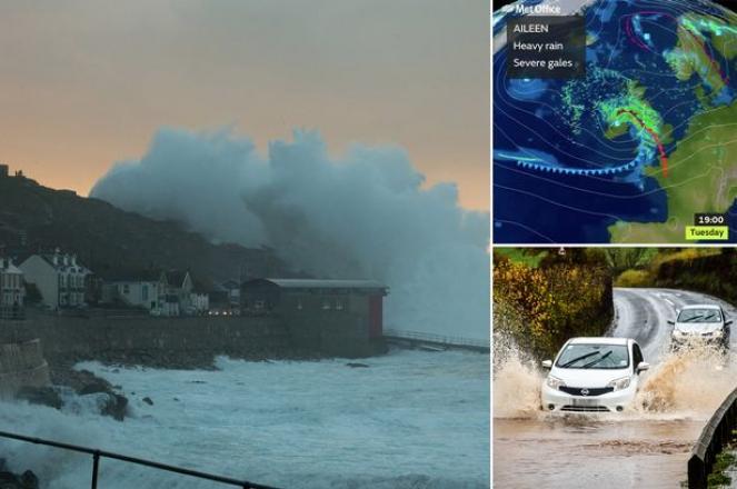 Aileen la prima tempesta atlantica della stagione autunnale colpisce il nord Europa