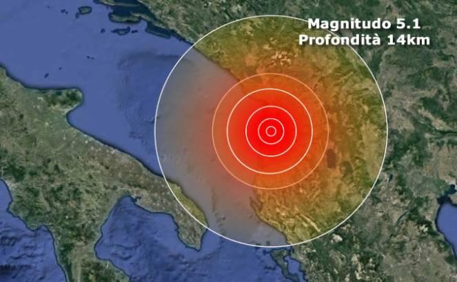 Scossa di terremoto in terra albanese avvertita anche a Bitonto