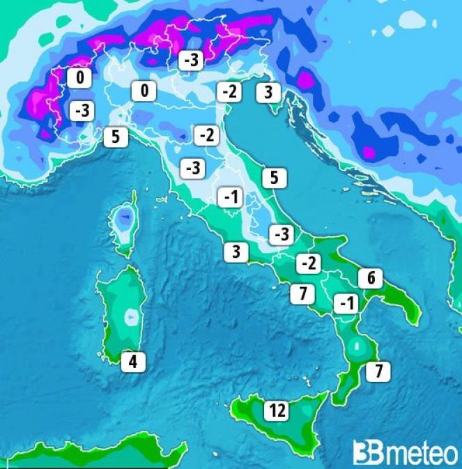 Previsioni meteo, l'inverno arriva in Italia: dopo il freddo tornano i temporali
