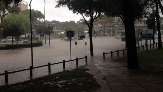 Allagamenti zona Pineta a Lignano - Udinetoday