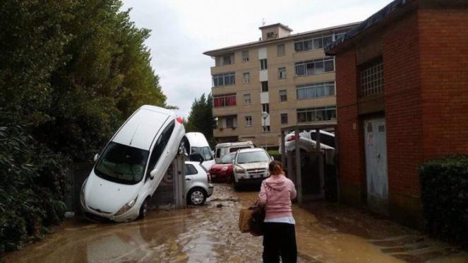 Pisa e Livorno in tilt per forti piogge
