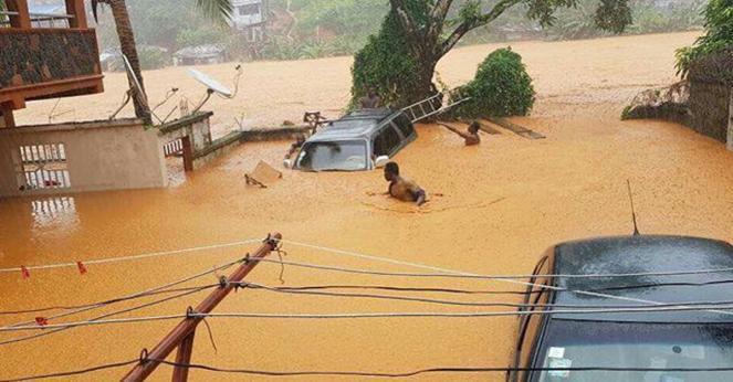 Alluvione lampo lunedì a Freetown