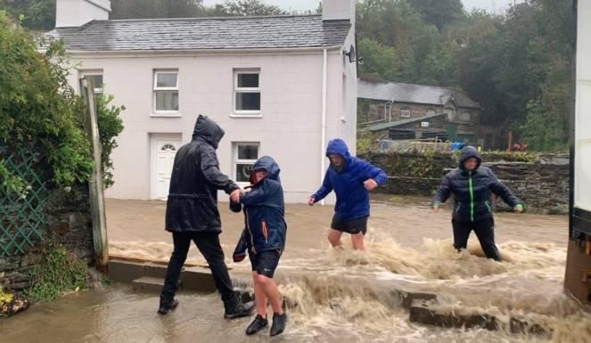 Alluvione nel Norfolk (Foto dal post di Maycol Checchinato - Facebook)
