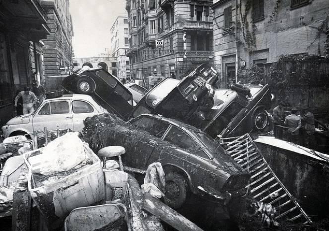 Alluvione su Genova nel 1970