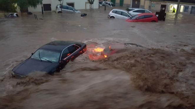 alluvione sulle Baleari