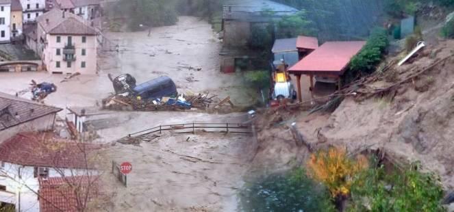 Alluvione tra Piemonte e Liguria