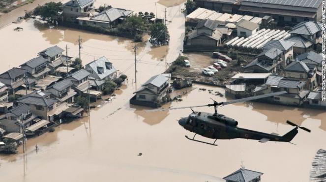 Alluvioni in Giappone, continua a salire il numero delle vittime