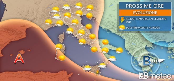 Alta pressione africana in arrivo sull'Italia