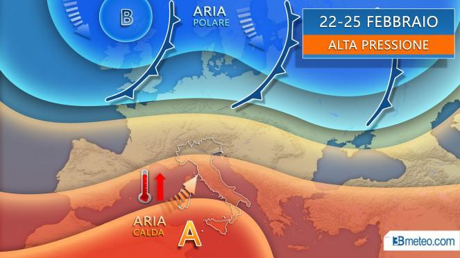 Alta pressione e clima anomalo fino a martedì