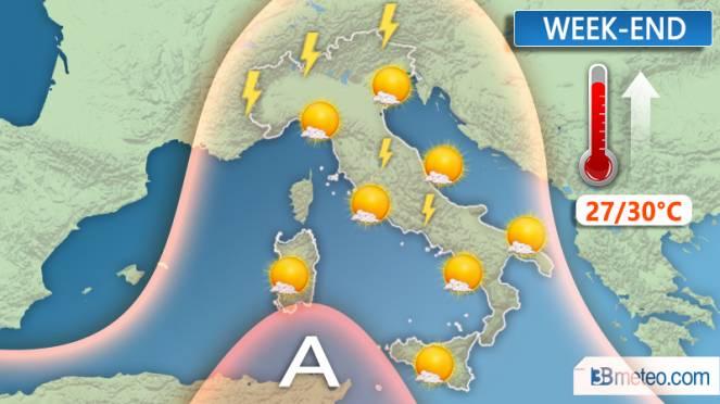 Alta pressione e clima estivo per il week-end