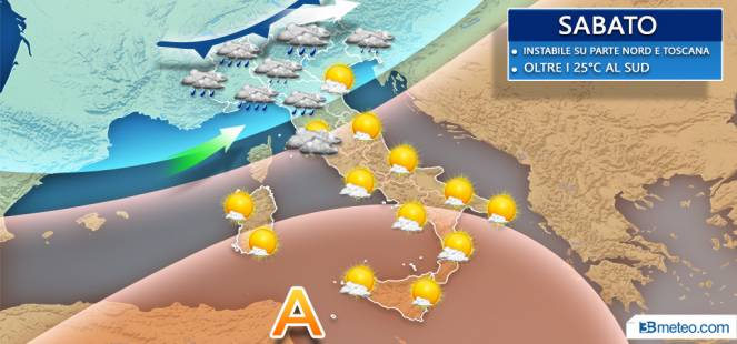 Ancora instabile su parte del Nord e Toscana