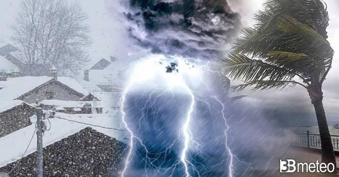 Ancora maltempo a inizio settimana con pioggia, neve e vento