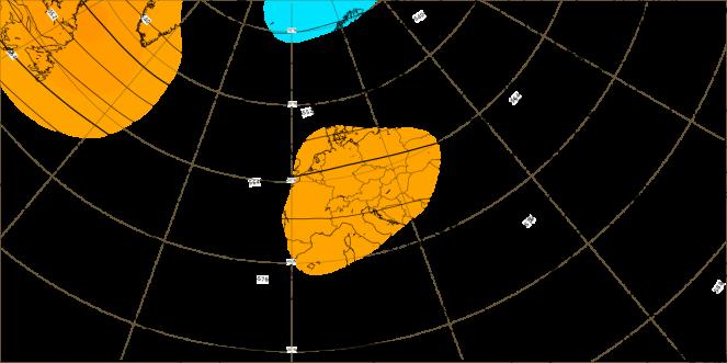 Anomalia settimanale dell'altezza di geopotenziale (dati ECMWF)