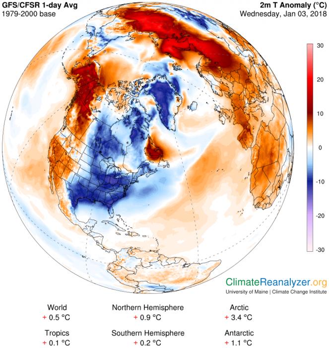 Anomalie di temperatura