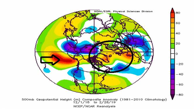 anomalie geopotenziale 500 hpa globale