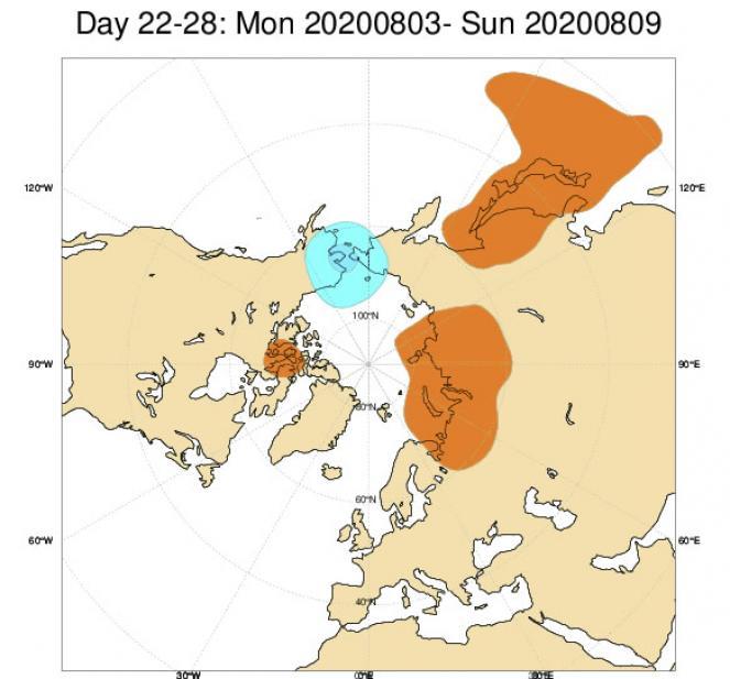 anomalie geopotenziale a 500 hPa (03-10 Agosto) secondo Ecmwf