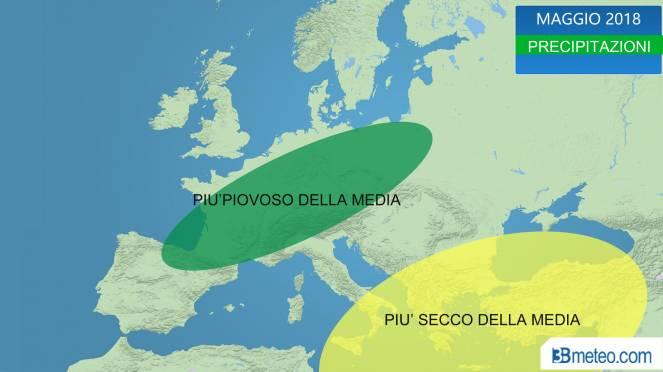anomalie piogge previste in Maggio