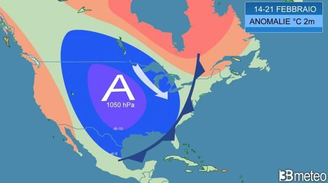 previste anomalie di temperatura a 2m