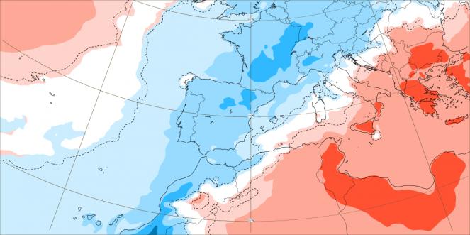 Anomalie termiche attese nel periodo 2-9 agosto sull'Europa centro-occidentale