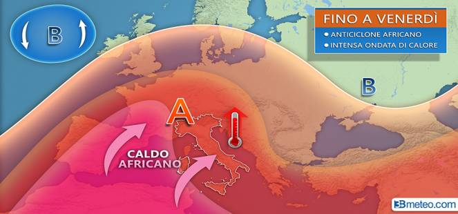 Settimana di caldo INTENSO: fino a 38/40°C