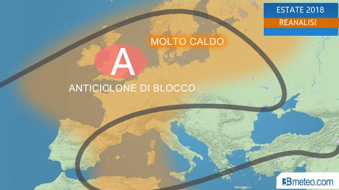 anticiclone di blocco domina l'estate