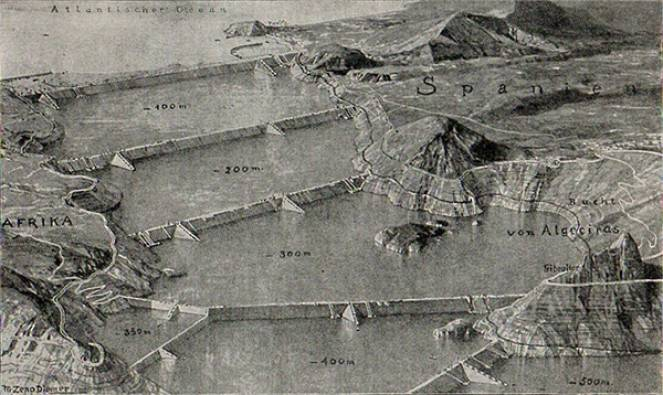 Atlantropa, il folle progetto del 1927 di chiudere il Mediterraneo con delle dighe su Gibilterra