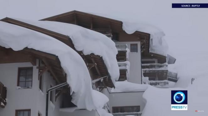 Austria metri di neve con pesanti disagi in tutto il paese