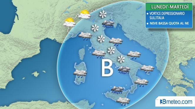 Meteo, c'è l'allerta per il ritorno della neve