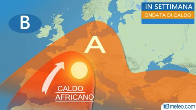 caldo africano in Europa