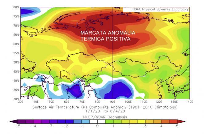 caldo anomalo in Siberia