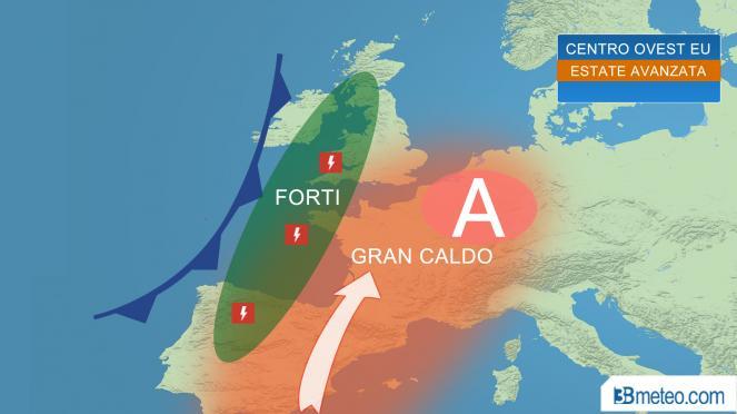 Caldo avanzato in Europa