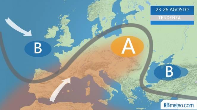caldo in aumento per fine Agosto