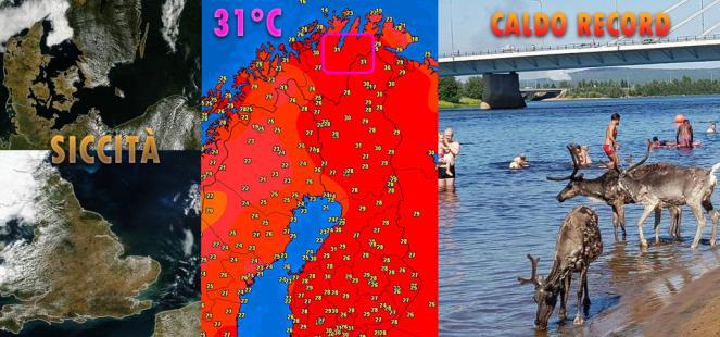 Europa caldo record siccit e incendi mentre in for Bagno caldo durante il ciclo