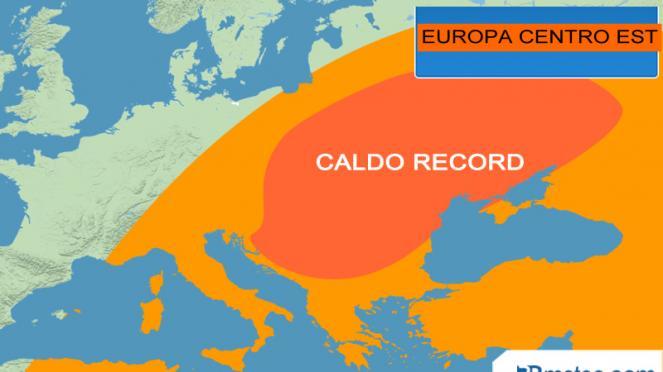 caldo record nei giorni scorsi su parte d'Europa