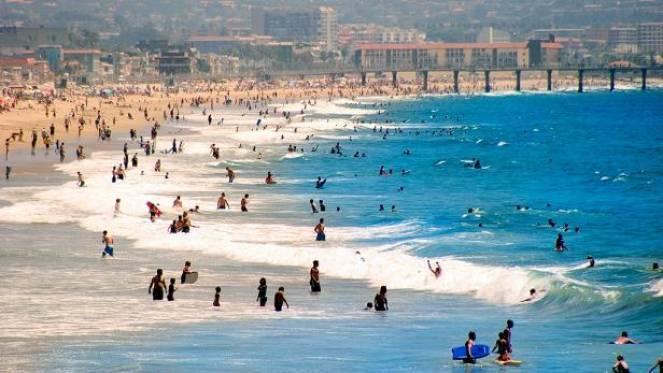 Caldo rovente in California. COVID19, si temono assembramenti sulle spiagge.
