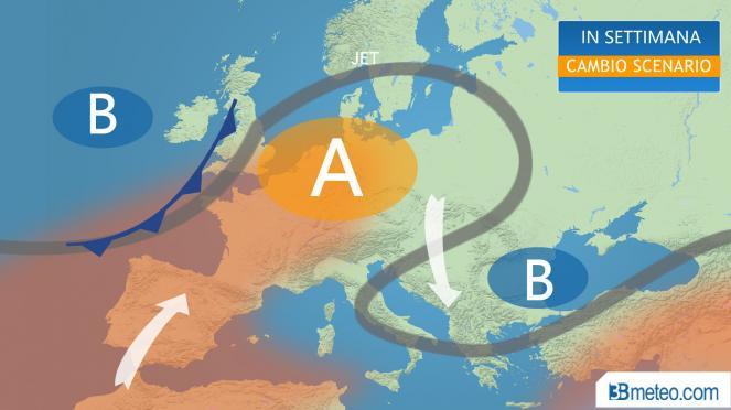 cambio scenario in Europa, torna l'alta pressione