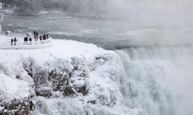 Cascate del Niagara ricoperte dal ghiaccio