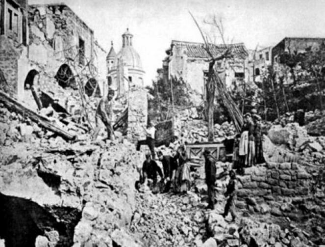 Casamicciola (NA) nel 1883, dopo il terremoto