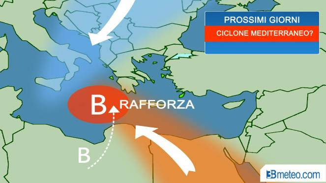 Preoccupa il ciclone mediterraneo