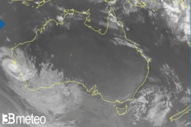 ciclone Seroja, landfall in Australia