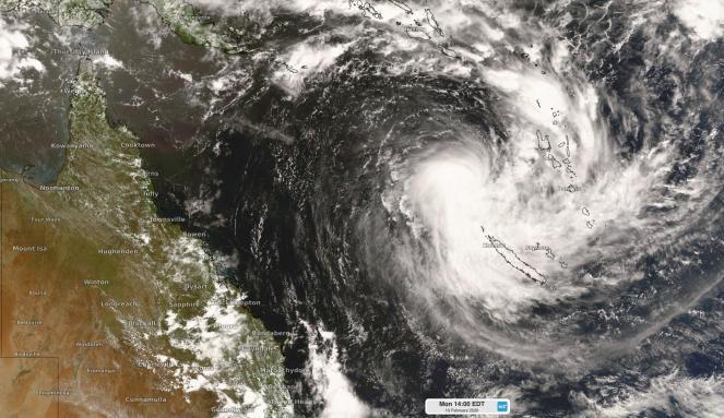 Ciclone Uesi martedì, nei pressi della Nuova Caledonia