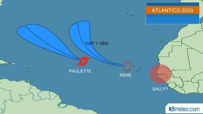 Cicloni atlantici: Paulette e Rene, pronta anche Sally