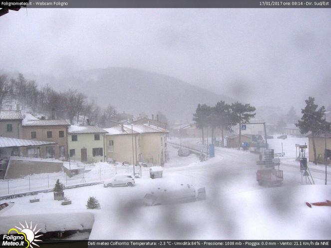 Colfiorito sotto la neve