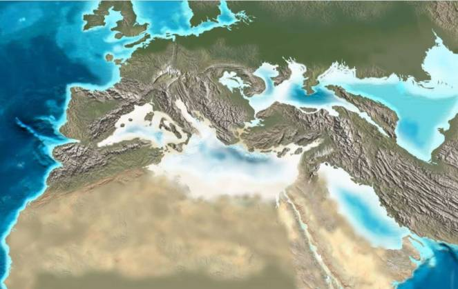 Come doveva apparire il Mediterraneo 5-6 milioni di anni fa (ingv)