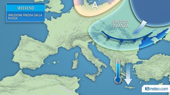 Correnti gelide invadono l'Europa orientale