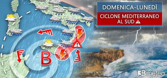 ⚠ CICLONE MEDITERRANEO IN ARRIVO, FORTE MALTEMPO su parte d Italia