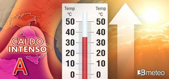 WEEKEND AFRICANO: CALDO intenso e punte di 38°C, attenzione ai temporali da domenica