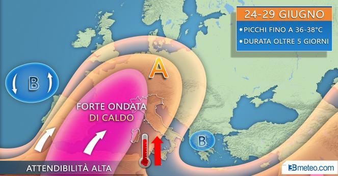 Da lunedì ondata di caldo dal Nord Africa